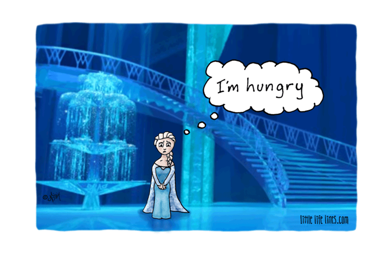 web comics elsa Of Course There's a Fridge but Who Wants Cold Dinner in an Ice Palace?