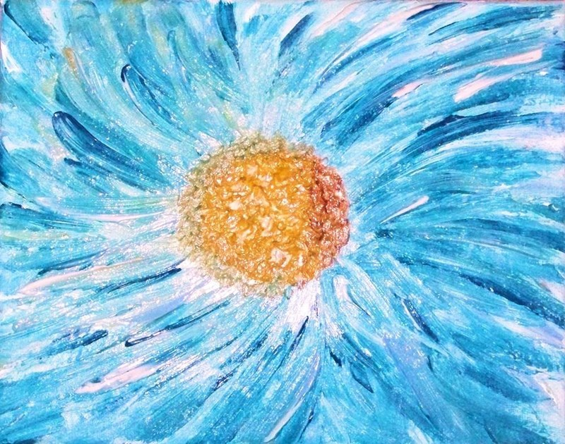 """My painting """"Blue Impasto Daisy"""""""