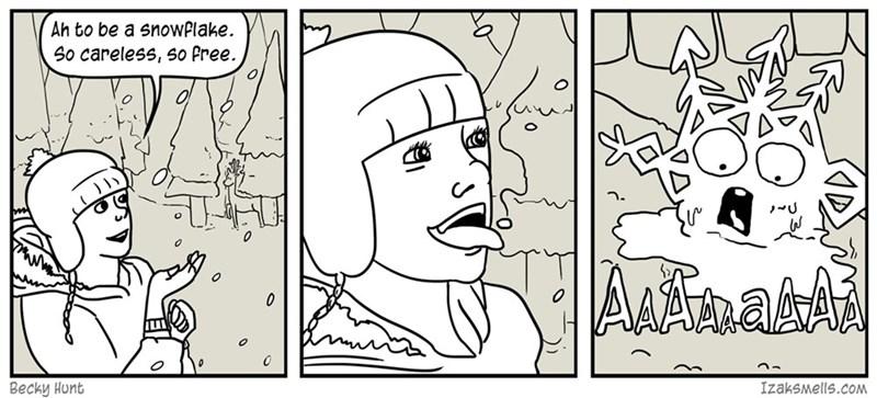 web comics snowflake You Monster!
