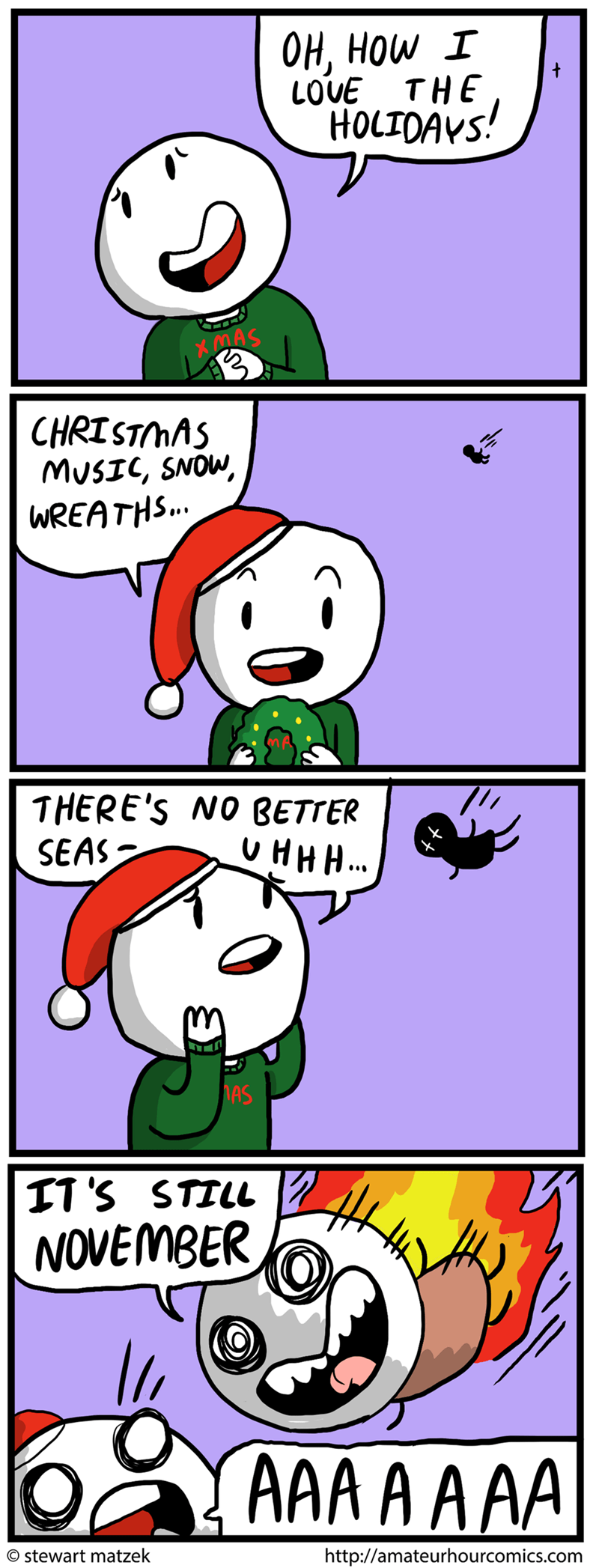 web comics christmas How Dare You Bring Out That Sweater Before December!