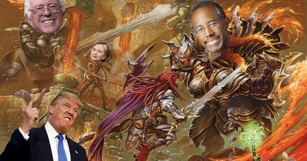 Geeky Art of The Day: The 2016 Election is So Much Better as 'Magic: The Gathering' Cards