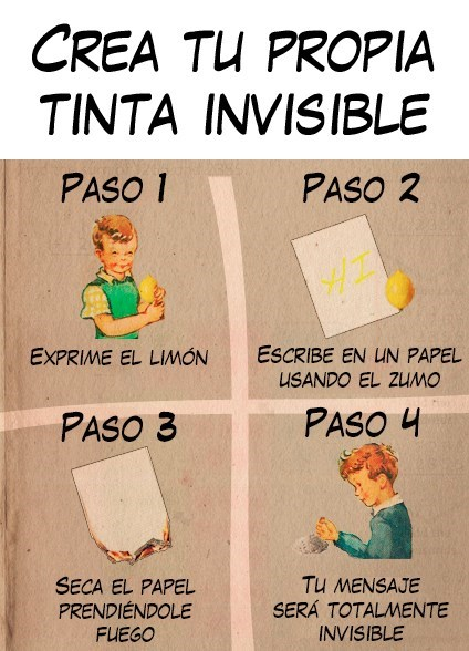 crea tinta invisible