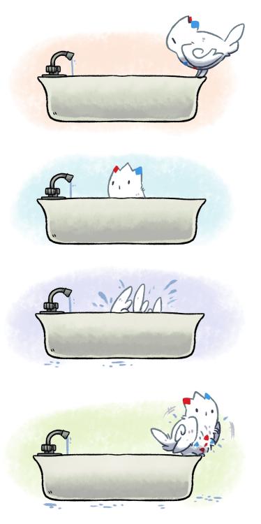 pokemon memes togekiss bath