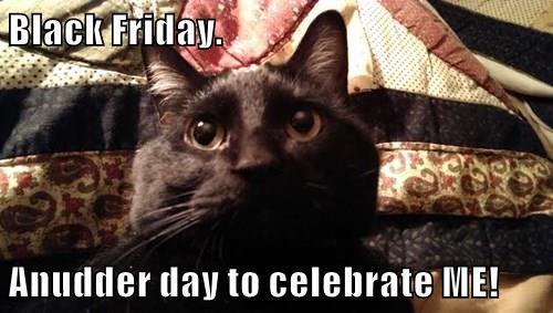 Black Friday.  Anudder day to celebrate ME!