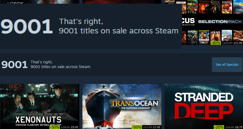 over 9000 steam sale - 8589661952