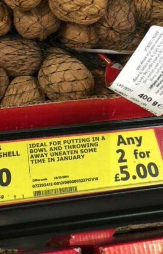 trolling memes supermarket nut sign