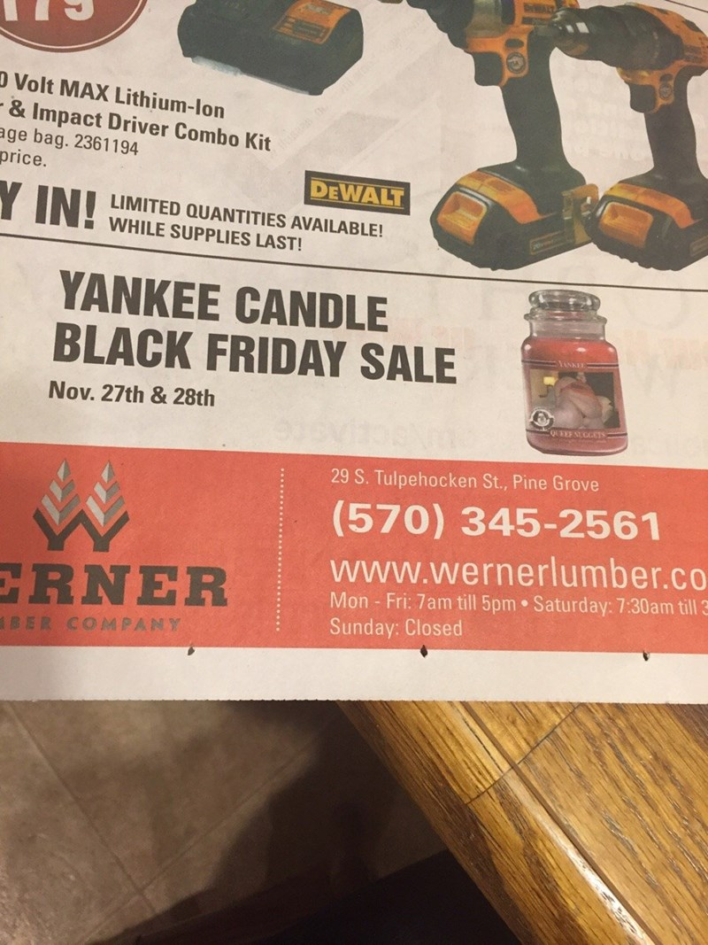 funny fail image black friday ad designer uses wrong image