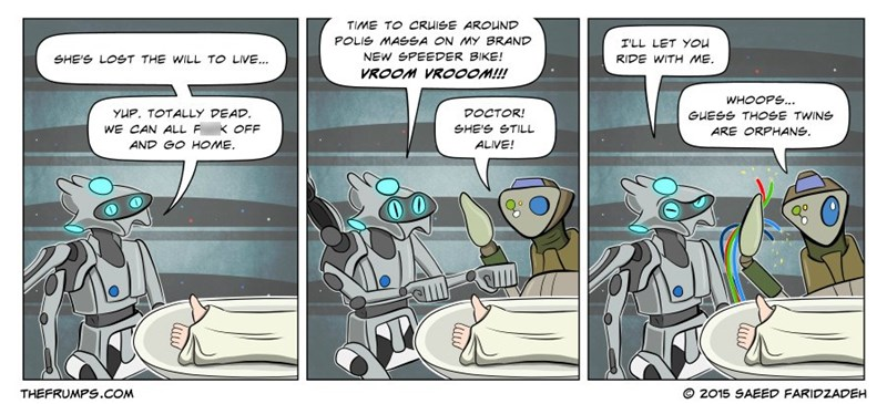 web comics star wars robots So That's What Really Happened