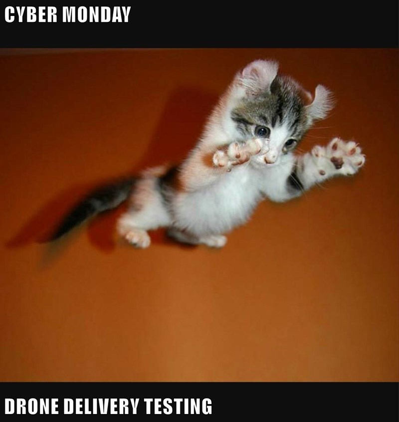 CYBER MONDAY  DRONE DELIVERY TESTING