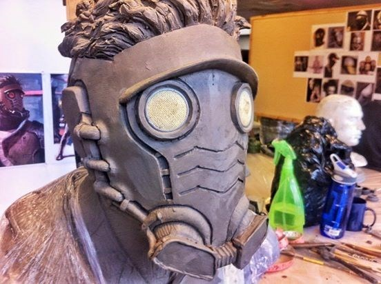 guardians of the galaxy concept art James Gunn Shared a Few Early Models of Star-Lord's Mask