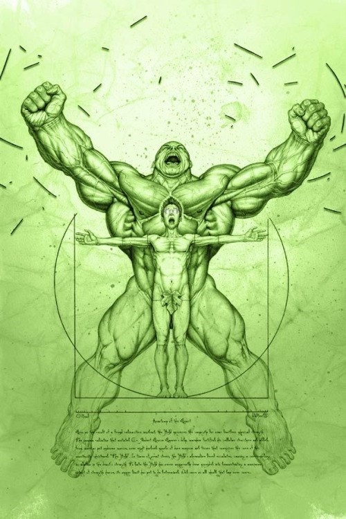 hulk art Since the Incident We Started Sending Satellites With the Vitruvian Hulk Stamped on Them
