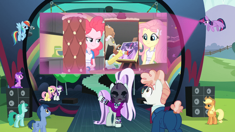 the mane attraction equestria girls discord what about discord svengallop twilight sparkle coloratura pinkie pie fluttershy - 8590235136