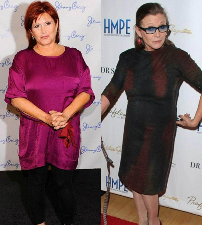 carrie fisher star wars Carrie Fisher Says She Was Pressured Into Losing Weight for the New Star Wars Film