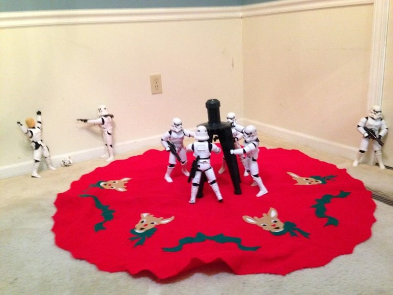 stormtrooper christmas tree Except That Guy in the Back