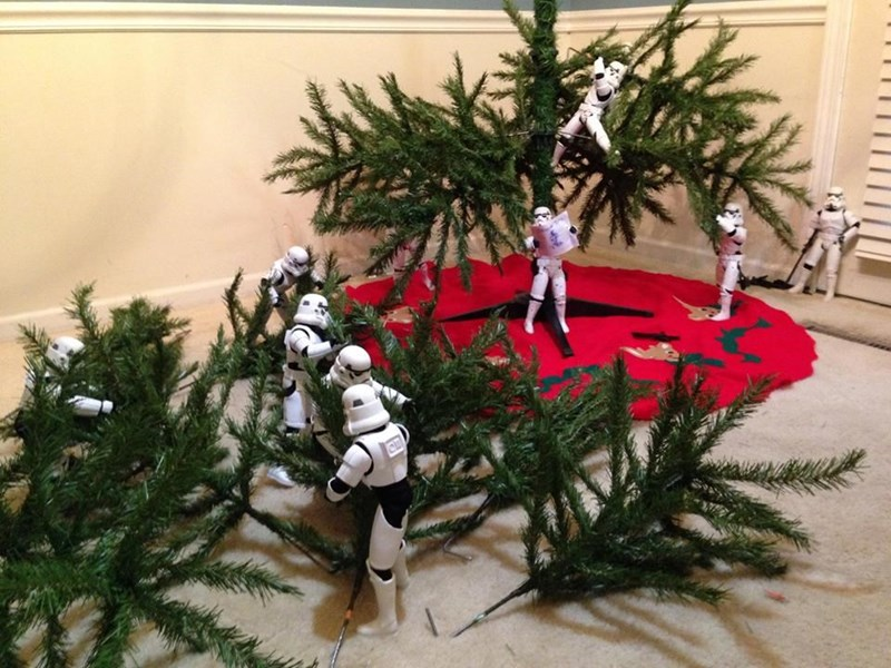 stormtrooper christmas tree Back to Work