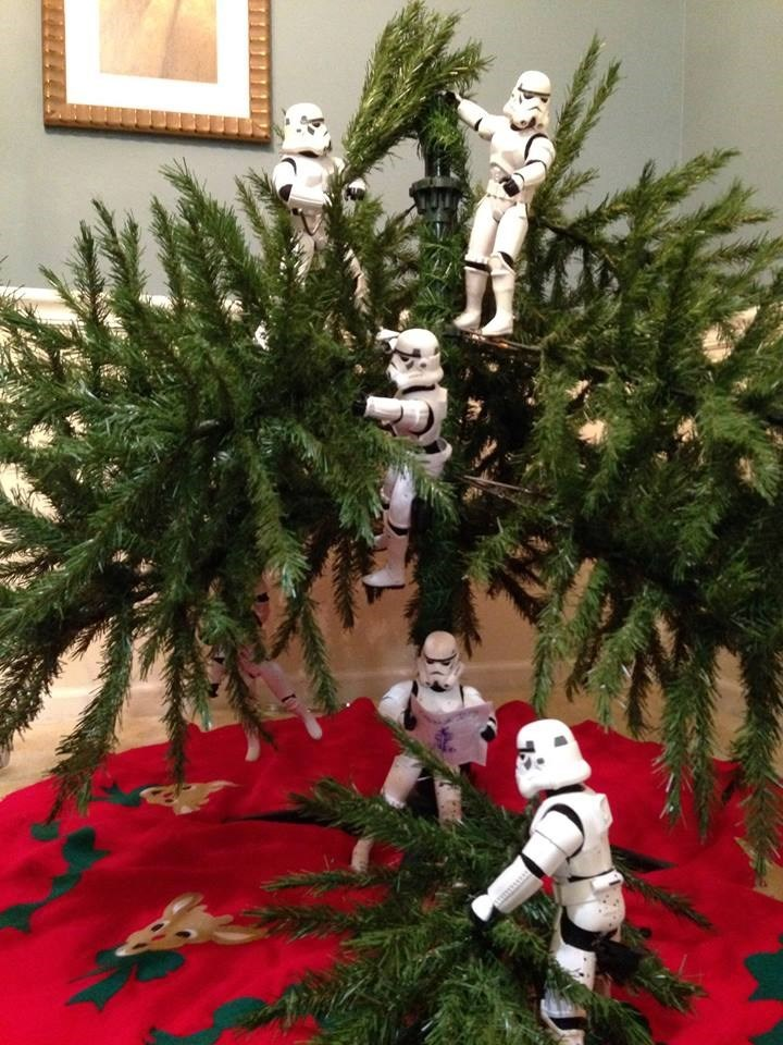 stormtrooper christmas tree Making Good Progress