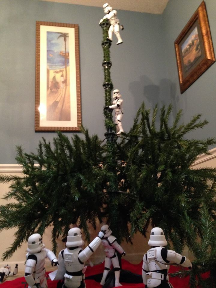 stormtrooper christmas tree Almost Done
