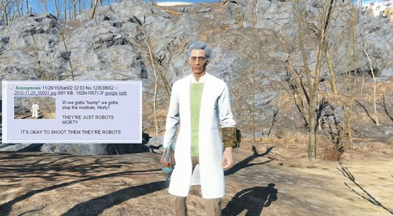rick and morty fallout 4 - 8590551808