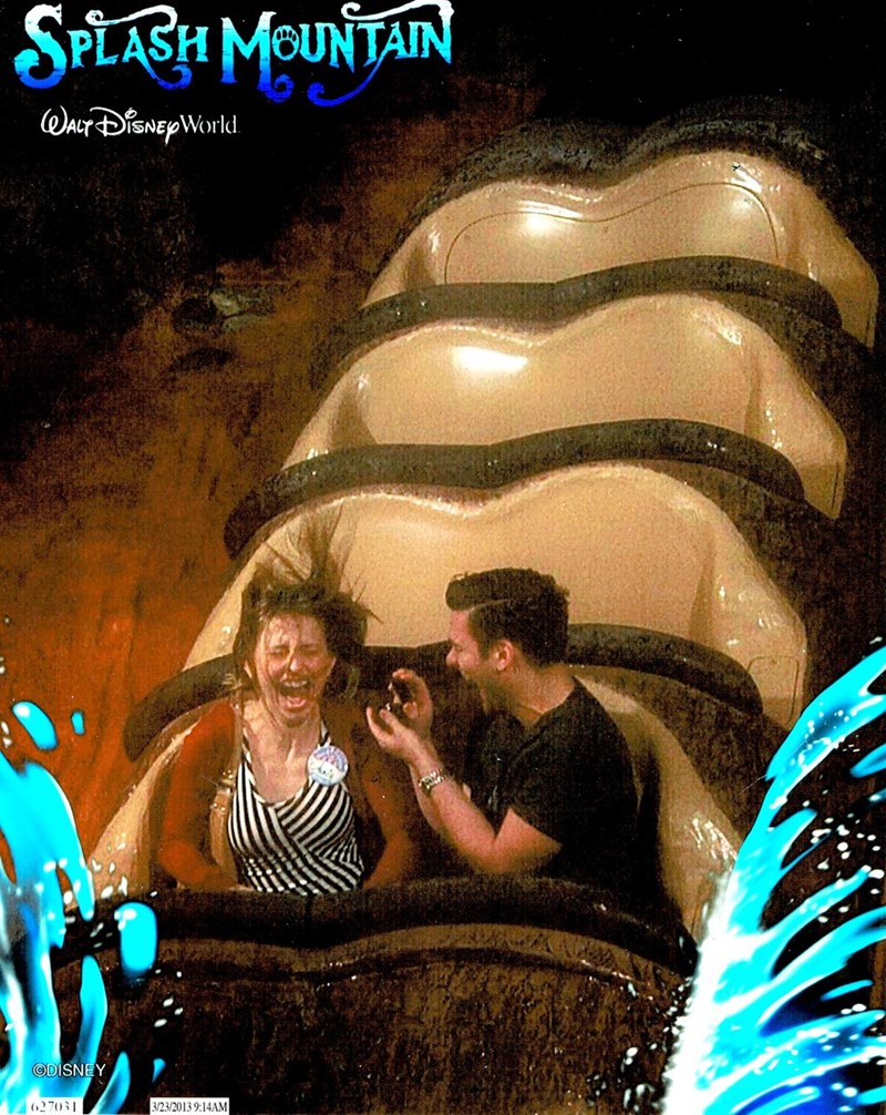 win perfectly timed disney ride engagement proposal is perfect