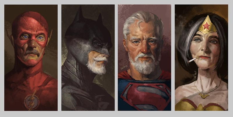superheroes dc fan art Fan Art Shows DC Heroes as Super Seniors