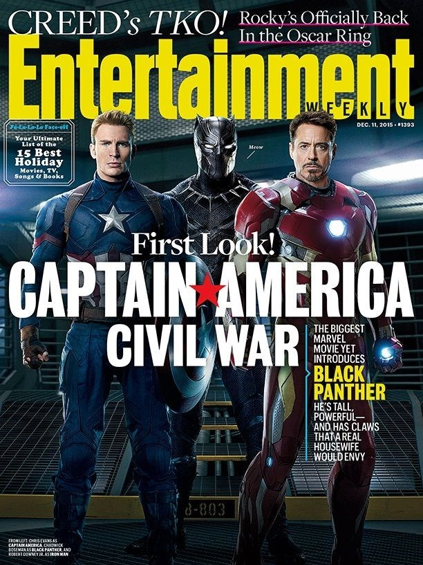 captain america iron man black panther Captain America Magazine Cover Includes Black Panther