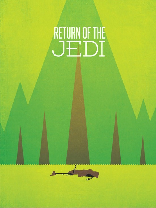 poster star wars Or A Minimalist Poster for the Graphic Designer You Know