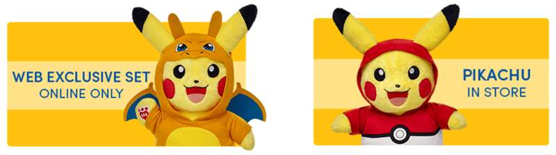 build a bear pikachu for sale in december