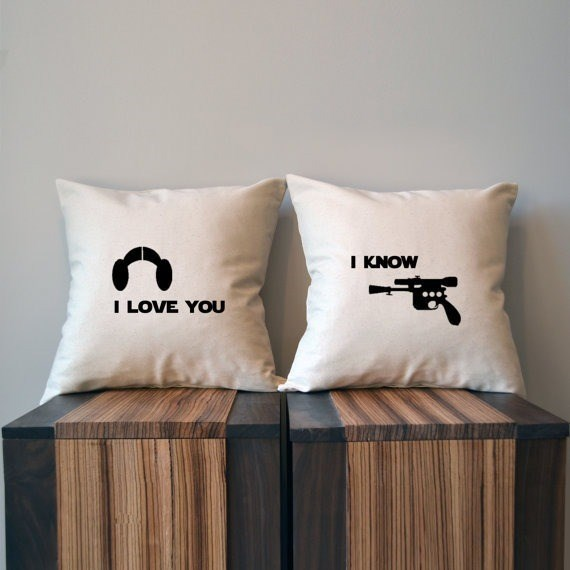 star wars Matching Throw Pillows for a Romantic Decorator