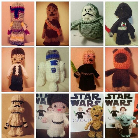 star wars Crochet Characters, When Plastic Figurines Are Just Too Mainstream
