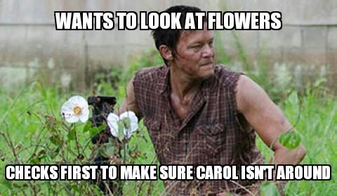 funny memes walking dead daryl wants to look at flowers