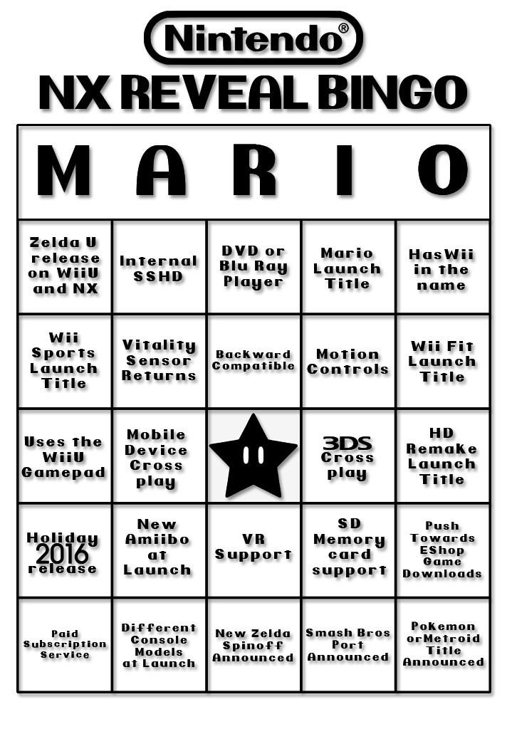 nintendo nx nintendo bingo - 8591025408