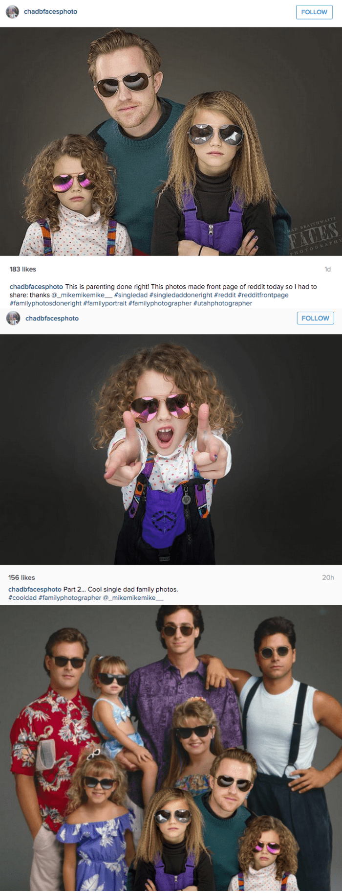 parenting win single dad takes coolest family photo of 2015