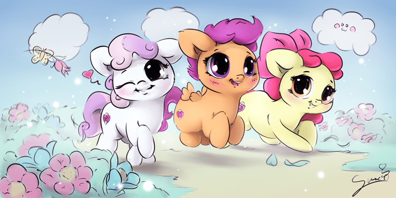 Cute Cutie Mark Crusaders Being Cute
