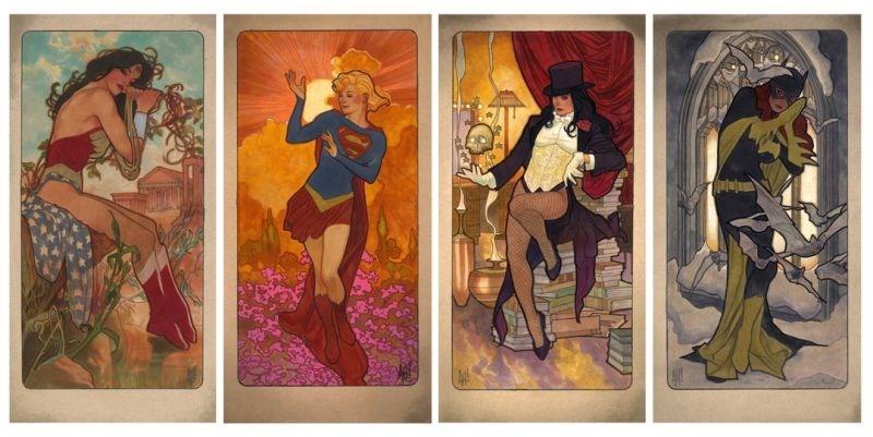 superheroes art Artist Reimagines Famous 'The Four Seasons' Paintings as DC Superheroes