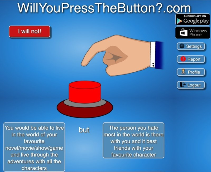 will you press the button - 8591412736