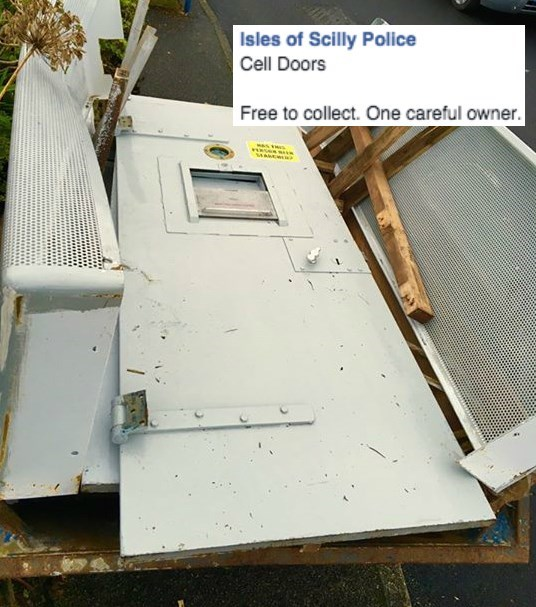 police image A British Police Advertisement for Old Cell Doors is Really a Clever Reminder of Where You DON'T Want to End Up