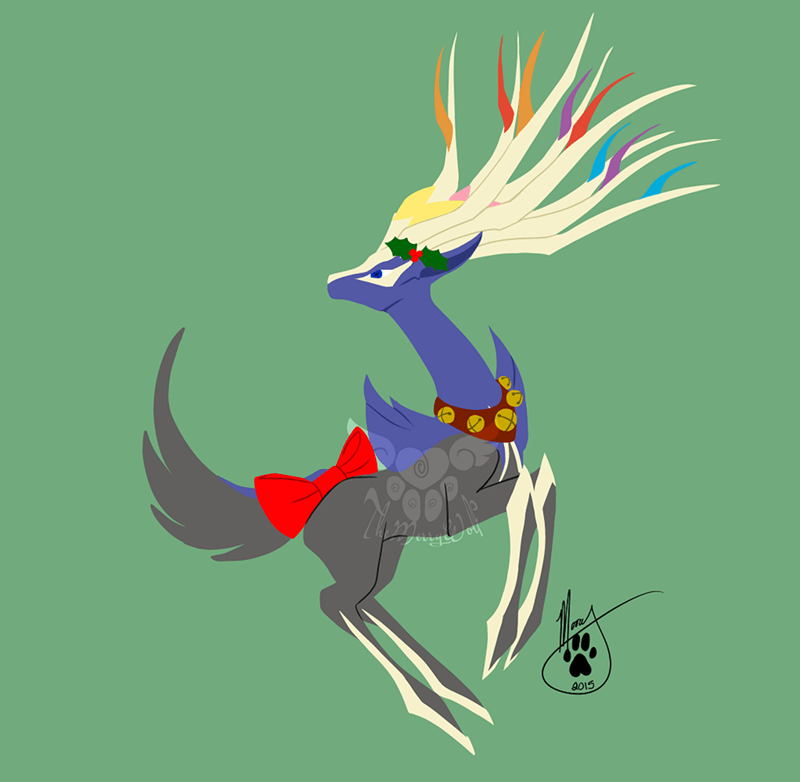christmas,Fan Art,for sale,xerneas