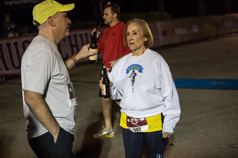 grandma finishes beer mile in 20 minutes