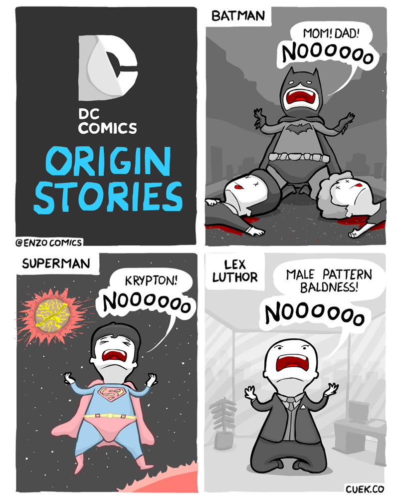 web comics heroes origins Everyone's Lost Something