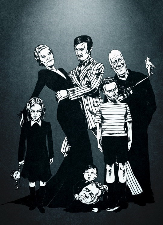 walking dead dixon adams family