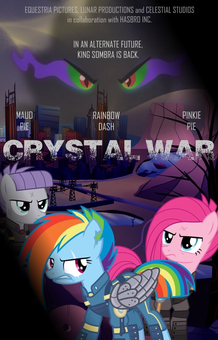 the cutie re-mark,sombra,movie poster,pinkie pie,maud pie,rainbow dash