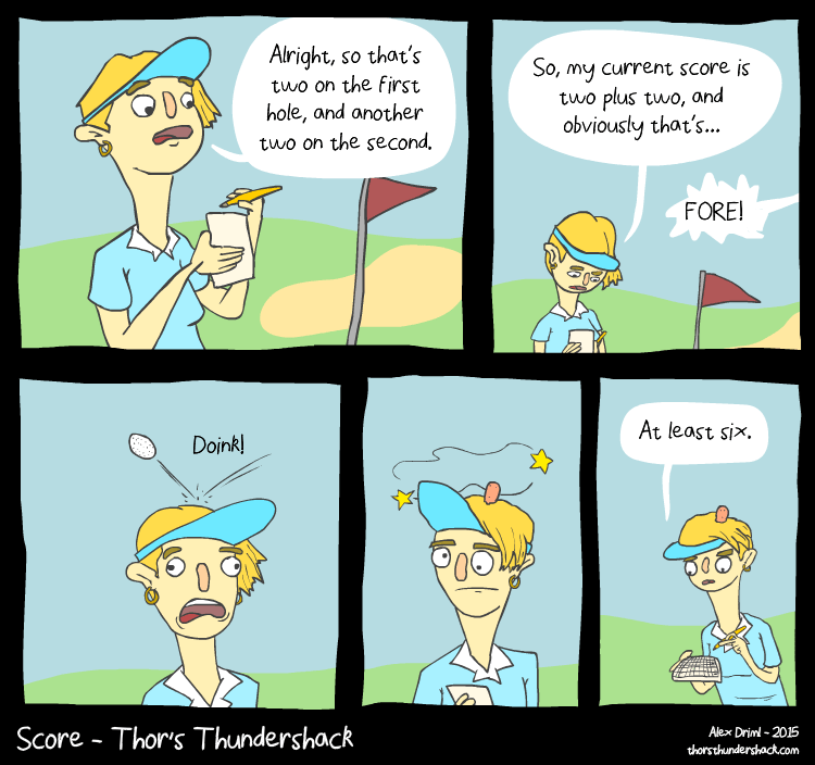 web comics golf It's Not Cheating if You Warn Them First