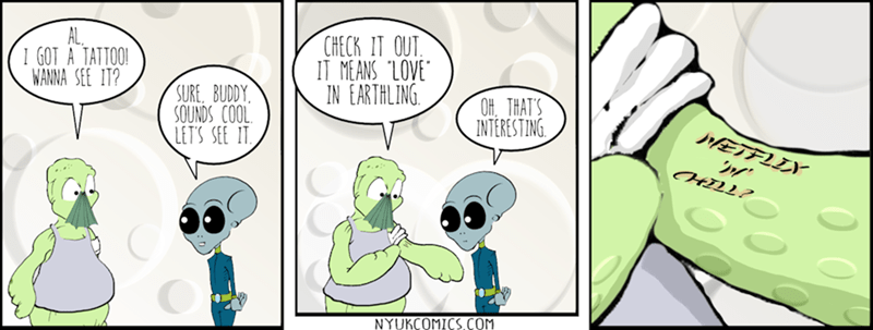 web comics aliens Close Enough