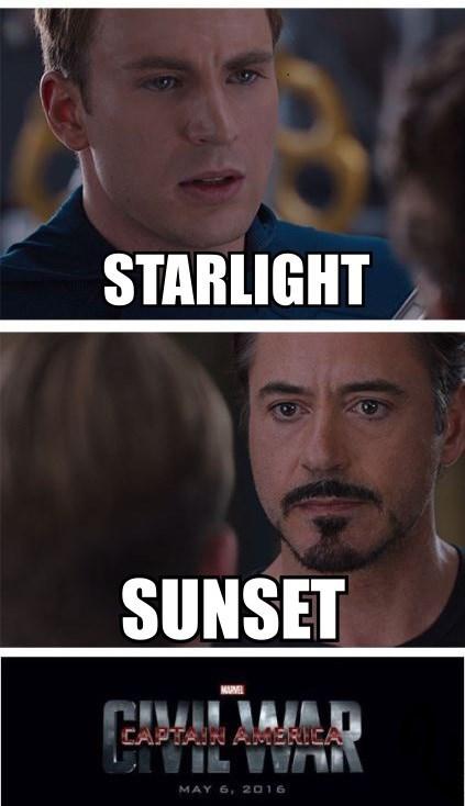 starlight glimmer sunset shimmer civil war - 8592079616