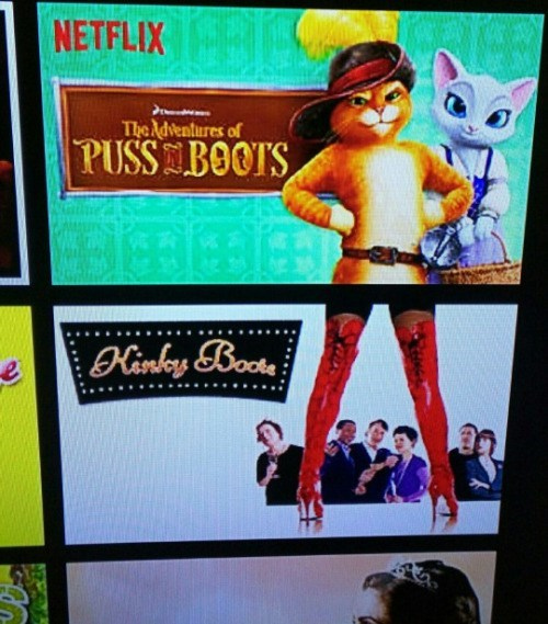 funny netflix photo puss in boots kinky boots