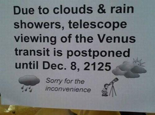 funny memes telescope viewing postponed