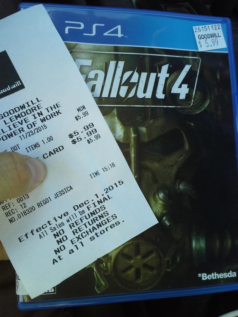 guy scores fallout 4 for six bucks