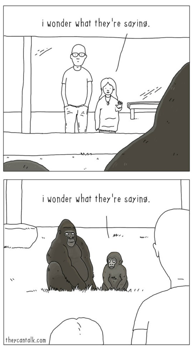 web comics people gorilla It's Hard to Know What They're Even Thinking