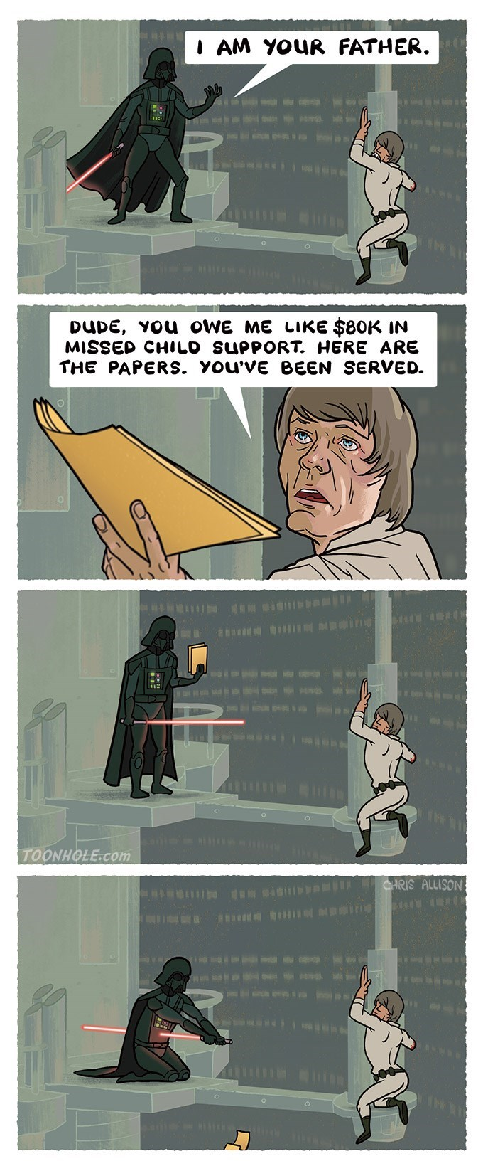 web comics star wars Luke... JK, I'm Not Your Father.