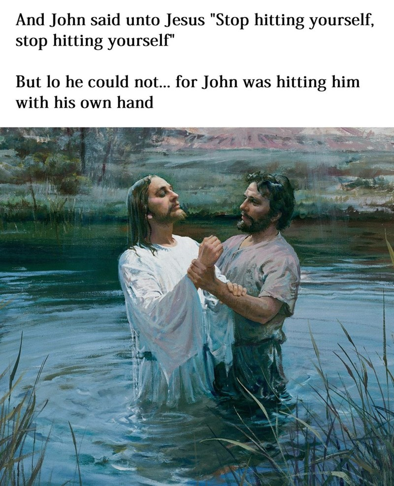 funny memes jesus stop hitting yourself